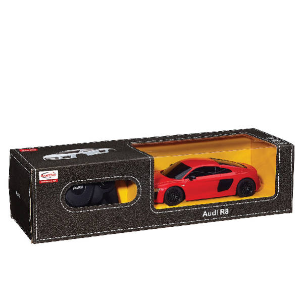 RAStar – 1:24 AUDI R8 2015 Version Remote Control Model Car (White & Red)