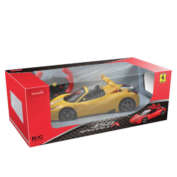 RAStar – 1:14 Ferrari 458 Speciale Remote Control Model Car (Yellow & Red)