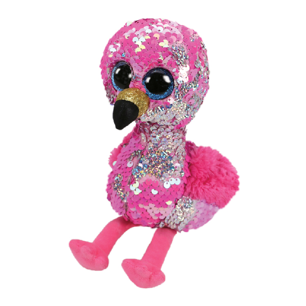 Ty - Flippables 13inch Plush (Pinky the sequin pink flamingo)