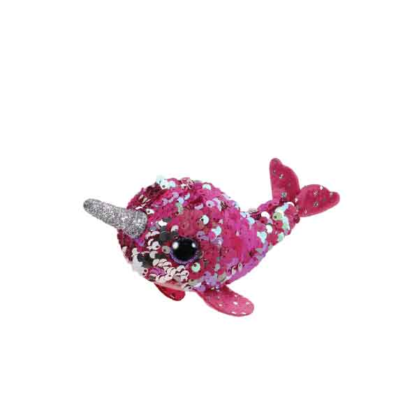 eb4cf2a94d5 Teeny Ty Sequin - (Nelly the Pink Narwhal) - Camtec Kids Specialist