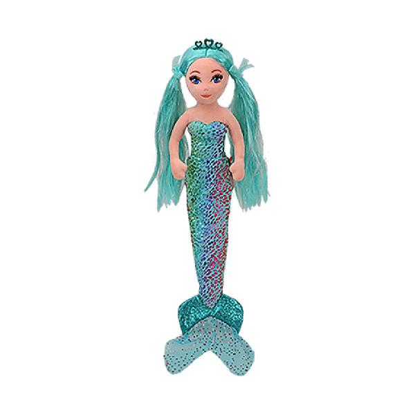 Ty Sea Sequins - 10inch Reg Teal Foil Mermaid (Azure)
