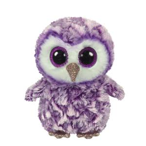 Ty Beanie Boos - 13in. Med Plush (Moonlight the Purple Owl)