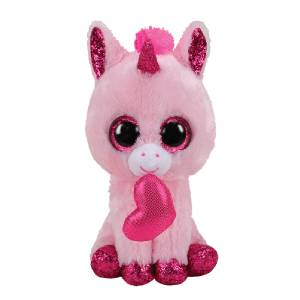 Ty Beanie Boos - 13in. Med Plush (Darling the Unicorn with Heart)