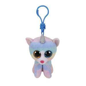 Ty Beanie Boos - 5inch Clip (Heather the Pastel Cat with Horn)