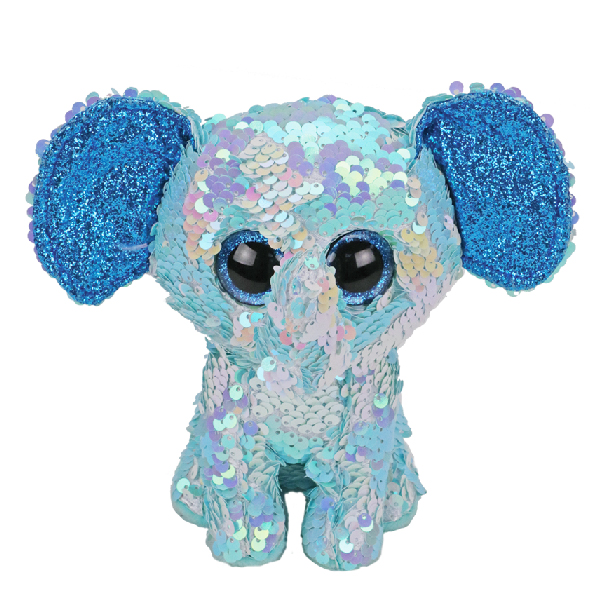 Ty Flippables - 13inch Sequin Plush (Stuart the Blue Elephant)