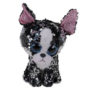 Ty Flippables - 13inch Sequin Plush (Portia the Terrier)