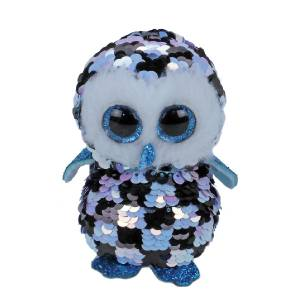 Ty Flippables - 13inch Sequin Plush (Topper the Blue/Black Owl)