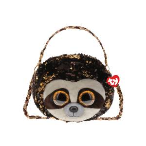 Ty Fashion – 3-Braided Strap Sequin Purse (Dangler the Sloth)