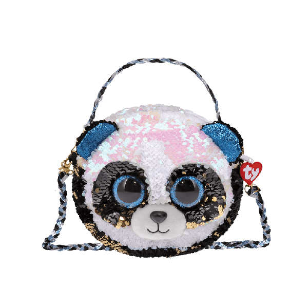 Ty Fashion – 3-Braided Strap Sequin Purse (Bamboo the Panda)