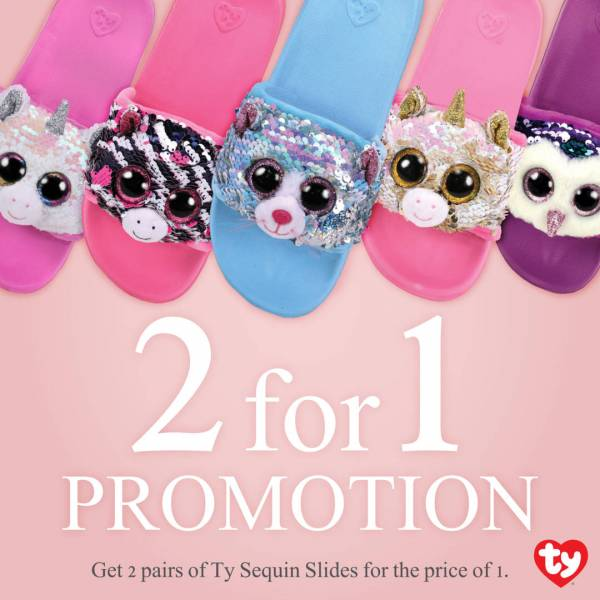 Ty Fashion Sequin Slides Promo 2 for 1