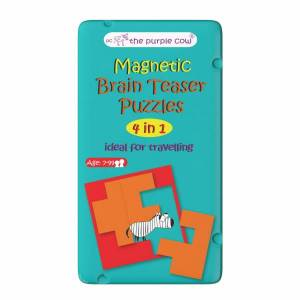 To Go Magnetic Travel Games - Magnetic Brain Teaser Puzzles (4 in 1)