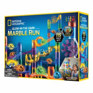 National Geographic - Glow-In-The-Dark Marble Run (115 piece set)