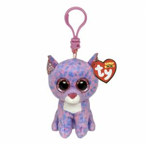 Ty Beanie Boos - Plush Clip - Cassidy the Lavender Cat