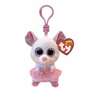Ty Beanie Boos - Plush Clip - Nina the White Ballerina Mouse