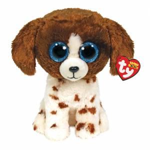 Ty Beanie Boos - Regular Plush - Muddles the Brown / White Dog
