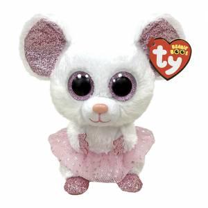 Ty Beanie Boos - Regular Plush - Nina the White Ballerina Mouse