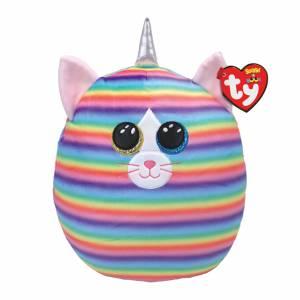 Ty Squish-A-Boo - Medium Plush - Heather the Pastel Striped Cat