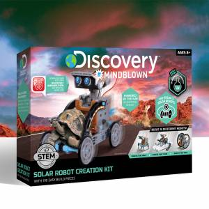 Discovery Mindblown - Solar Robot Creation Kit (With 190 Easy-Build Pieces)