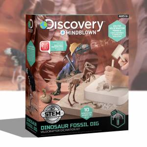 Discovery Mindblown - Dinosaur Fossil Dig (Velociraptor Excavation Kit)