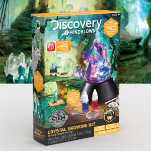 Discovery Mindblown - Crystal Growing Kit (13-piece Chemistry Lab)